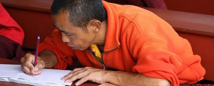 Bhutan Mönch Student