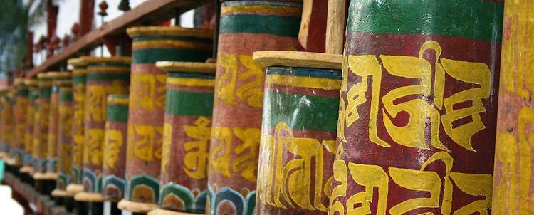 Gebetsmühlen Tashiding Sikkim West