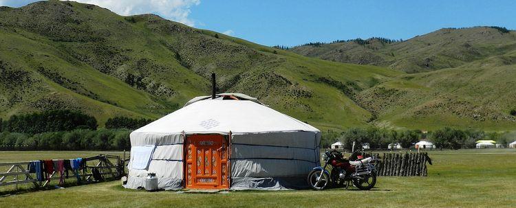 Yurte Unterkunft Karakorum Mongolei