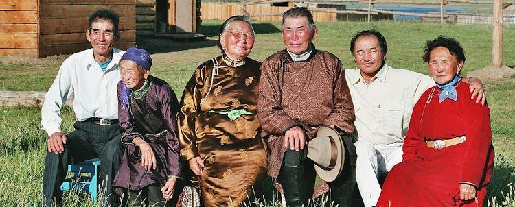 Mongolische Familienzusammenkunft