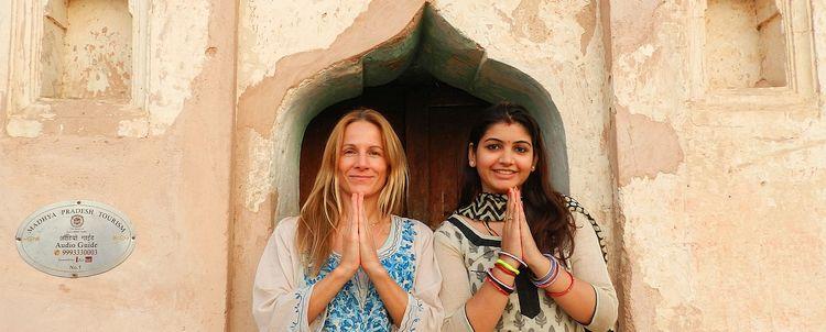 Helen Kämpf in Madhya Pradesh mit Partneragentin