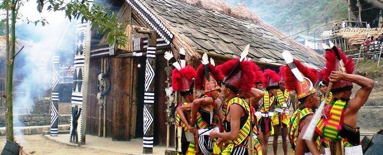 Volkstanz Pochury Stamm Hornbill Fest Nagaland Kohima