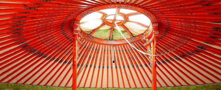 Yurte Unterkunft Camp Mongolei Gobi