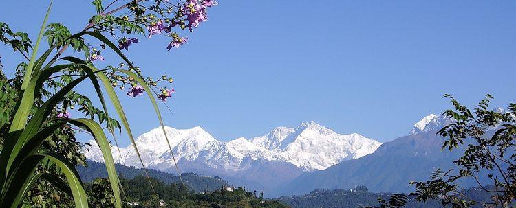 Sikkim Landschaft mit Khangchendzonga