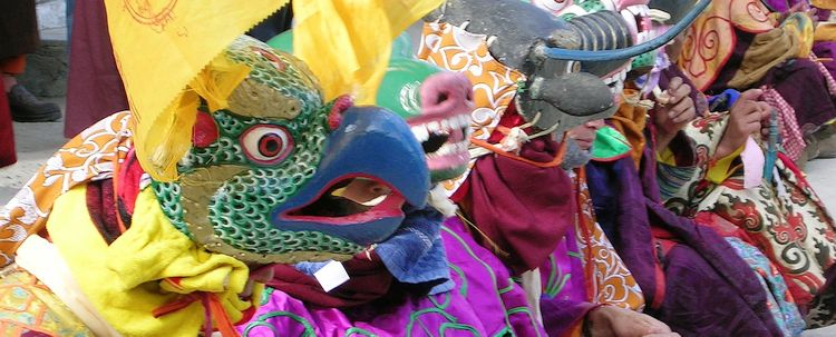 Maskentanz Fest Lamas Phodong Sikkim