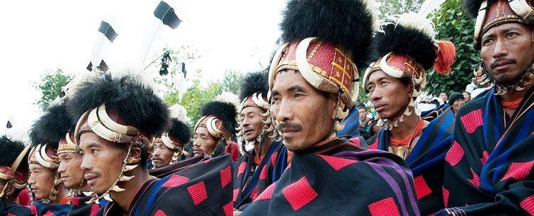 Nagaland Hornbill Fest der Stammesangehörige der Chang