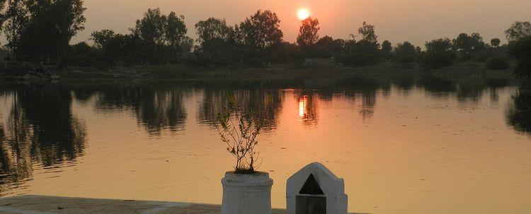 Khajuraho Sonnenuntergangt
