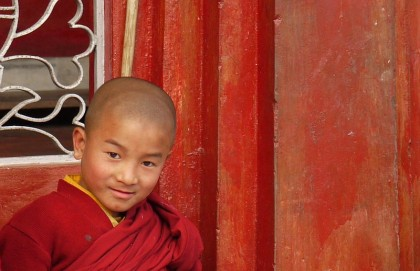 A monk in Sikkim