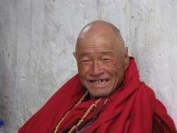 A monk in Bhutan